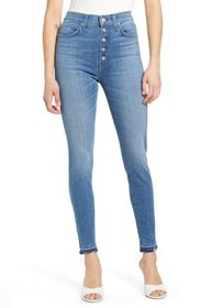 7 For All Mankind High Waist Button Fly Ankle Skin