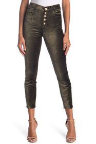 7 For All Mankind The High Waist Exposed Button Fl