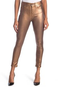 7 For All Mankind High Waist Metallic Skinny Jeans