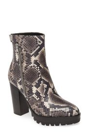 ALLSAINTS Ana Snake Embossed Lug Sole Boot