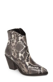 ALLSAINTS Rolene Snake Embossed Leather Bootie