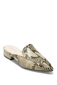 Cole Haan Piper Leather Snake-Embossed Mule