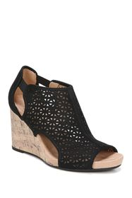 LifeStride Hinx Perforated Wedge Sandal - Wide Wid