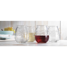 Home Essentials Original Mason Stemless Wine Glass