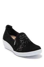 Anne Klein Akbois Embellished Zipper Wedge Sneaker