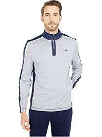 Lacoste Long Sleeve Color-Block Sleeve and Shoulde