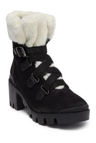 Schutz Aretuza Faux Fur Trimmed Hiking Boot