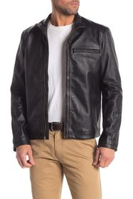 Cole Haan Classic Leather Moto Jacket