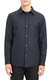 Theory Kian Regular Fit Wool Shirt Jacket