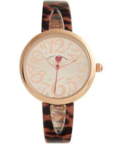 Betsey Johnson Tortoise Half Bangle Bracelet Watch