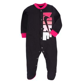 Baby Girl Nike Logo Footed Coverall