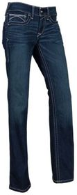 Ariat REAL Mid-Rise Icon Stackable Straight Leg Je