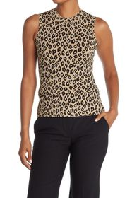 Theory Leopard Print Knit Shell
