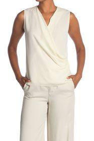 Theory Surplice Draped Silk Tank