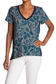 Tommy Bahama Breezy Blooms Mixed V-Neck Tee
