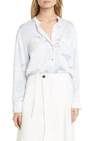 Vince Magnolia Band Collar Blouse