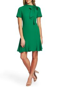 CeCe by Cynthia Steffe Bow Neck Short Sleeve Dress