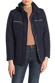 Vince Camuto Quilted Chest Patch Pocket Jacket