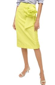 J. Crew Taffeta Rosette Pencil Skirt