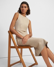 Clean Shift Dress in Suede