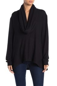 Go Couture Brushed Cowl Neck Tunic