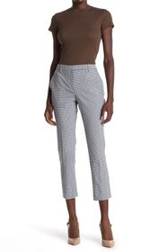 Theory Check Print Cropped Pants