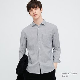 Men Flannel Checked Long-Sleeve Shirt, Off White,