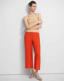 Wide Cropped Pant in Eco Rosina Crepe