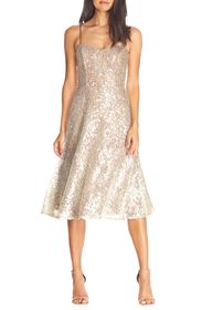Dress the Population Antonia Sequin Lace Fit & Fla