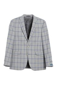 Kenneth Cole Reaction Windowpane Two Button Notch