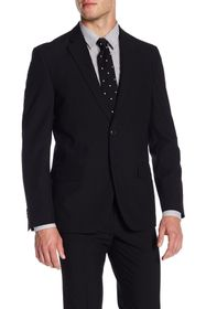 Ben Sherman Solid Black Two Button Notch Lapel Sui