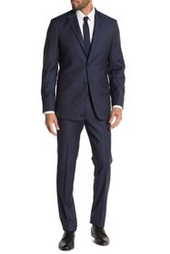 Theory Xylo Nested Sharkskin Two Button Notch Lape