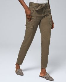 High-Rise Utility Straight Ankle Jeans