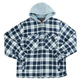 Mens Mountain Ridge® Flannel Hooded Jacket