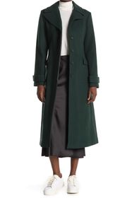 kate spade new york twill wool blend belted coat