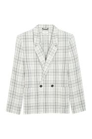 Billy Reid Double Breasted Plaid Jacket