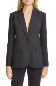 JUDITH AND CHARLES Alvorada Pinstripe Stretch Wool