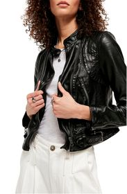Free People Heartbreaker Moto Faux Leather Jacket