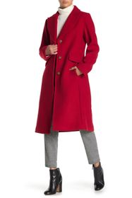 kate spade new york Wool Blend Notch Collar Coat