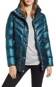 Sam Edelman Funnel Neck Quilted Down Puffer Jacket