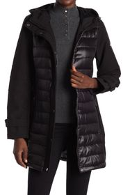 BCBG Mixed Media Puffer Jacket