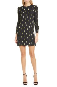 alice + olivia Beatrix Puff Sleeve Shift Dress