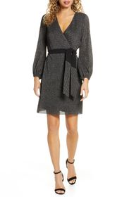 Sam Edelman Lurex Faux Wrap Dress