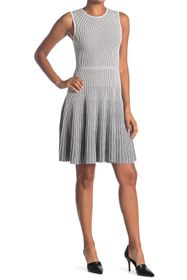 Theory Novelty Pinstripe Sleeveless Dress