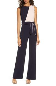 Vince Camuto Piped Jumpsuit