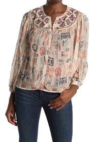 Velvet by Graham & Spencer Janae Cleo Print Top