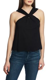 1.State Twist Neck Knit Top