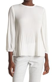 Adrianna Papell Pleated Georgette Crepe Blouse