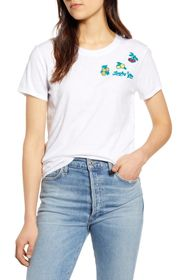 Lucky Brand Embroidered Fruit T-Shirt