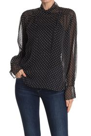 Equipment Aubriete Polka Dot Chiffon Blouse